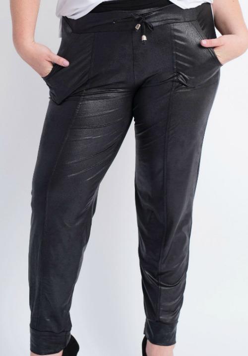bukser med læderlook