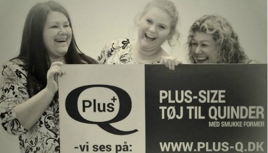 www.plus-Q.dk - plus size tøj - plus-Q pigerne giver inspiration til storpige tøj størrelse 44 til 66