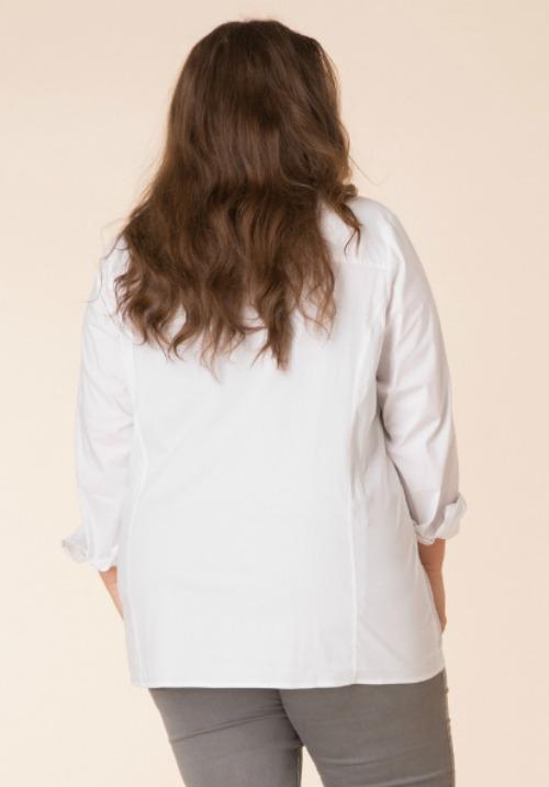 www.plus-Q.dk - KJ Brand model Babsie rummelig jeans i lysblå forvasket sommerdenim størrelse 42 til 58 oekotex certificeret
