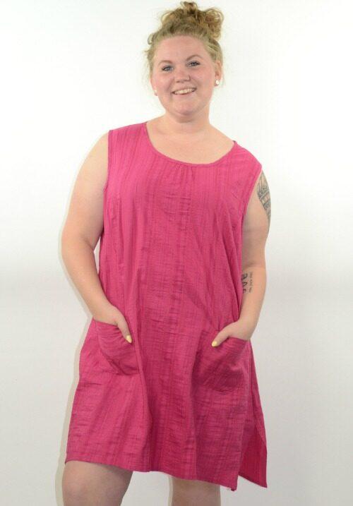 www.plus-Q.dk wash and go kjole cerise fra KJ Brand