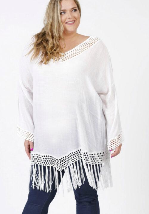167e0c57 Plus-Q.dk - Poncho i store størrelser - Plus size modetøj til Kvinder