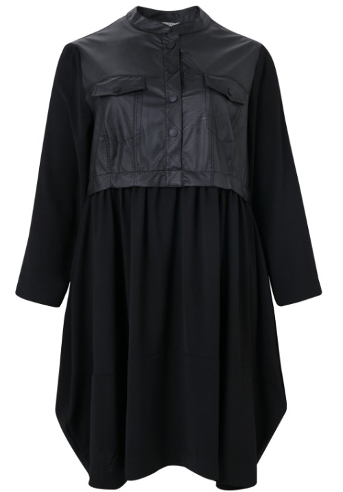 www.plus-Q.dk MAT kjole med jakke look