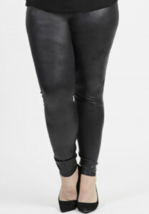 www.plus-Q.dk Magna leggings læderlook plu size leggings størrelse 40 til 66