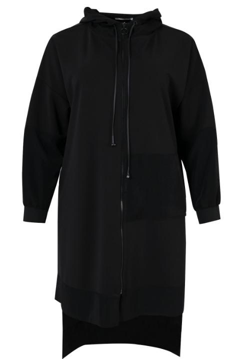 www.plus-Q.dk lang hættebluse fra MAT Fashion 4059