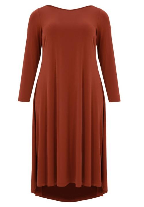 www.plus-Q.dk assymetrisk MAT kjole i jersey-2