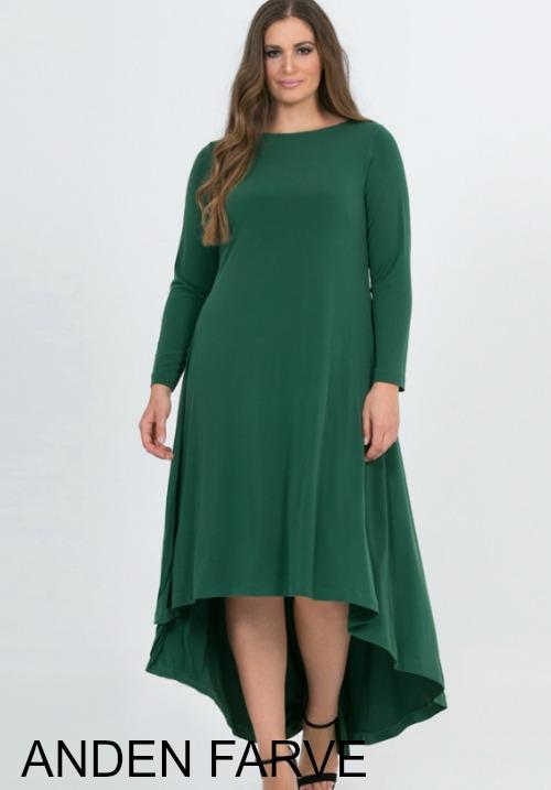 www.plus-Q.dk assymetrisk MAT kjole i jersey