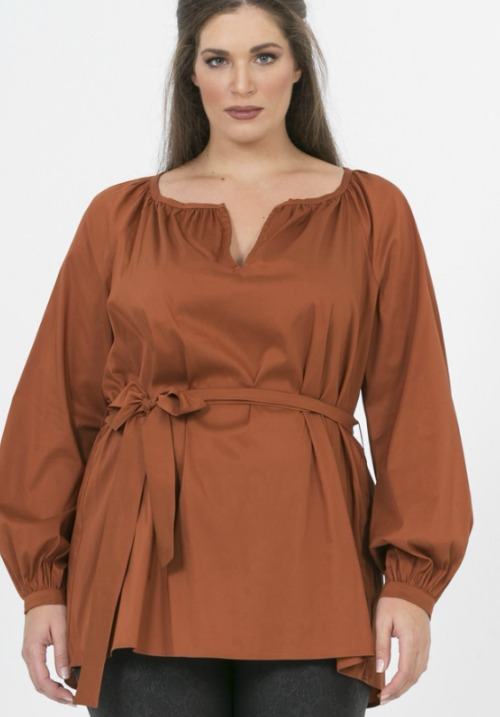 www.plus-Q.dk bluse fra MAT Fashion terracotta 7201 1300