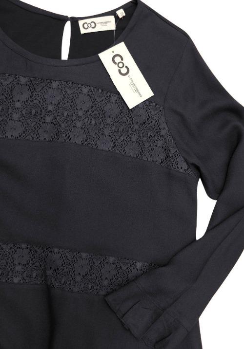 www.plus-Q.dk lang ærmet kjole med blonder