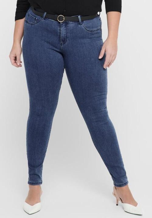www.plus-Q.dk jeans fra Only carmakoma mellemblå