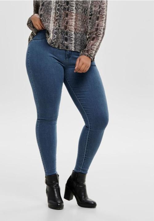 www.plus-Q.dk jeans med push up effect fra Only Carmakoma