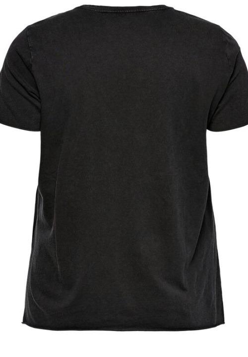 www.plus-Q.dk t-shirt printet sort med ørnetryk